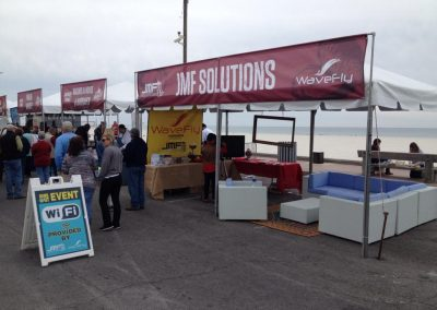 jmf solutions booth at hangout fest